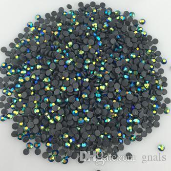 6SS 2MM DMC كريستال HotFix حجر الراين الحديد على أبل الأخضر AB الإصلاح الساخنة الحجارة SS6