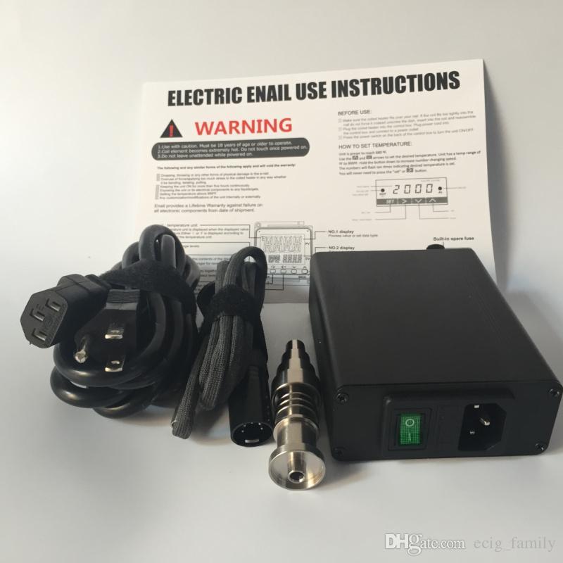 티타늄 네일 히터 코일과 함께하는 키트 키트 드라이 허벌 디지털 전자 DNail DAB dnail 돔리스 Dnail D- 네일 E 네일 D 네일 WAX Vaporizer Box