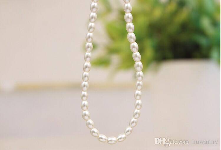 Top Grade Imitation Perle Colliers Vente Chaude De Mode 17 pouces Sautoirs Nacklace Pour Les Femmes Fille Bijoux En Gros Livraison Gratuite - 0321WH