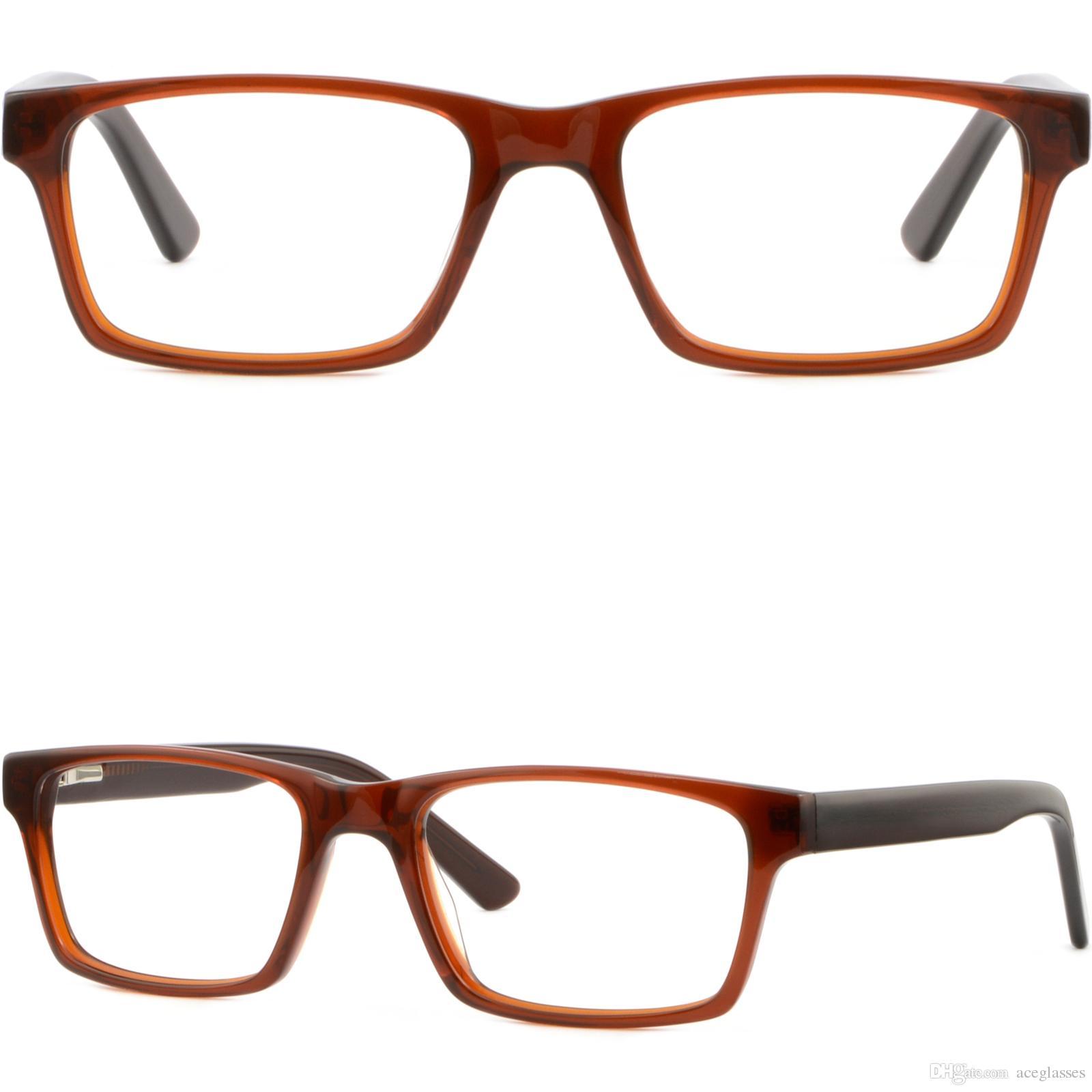 Compre Rectángulo Para Mujer Para Hombre Marco Acetato Gafas De ...