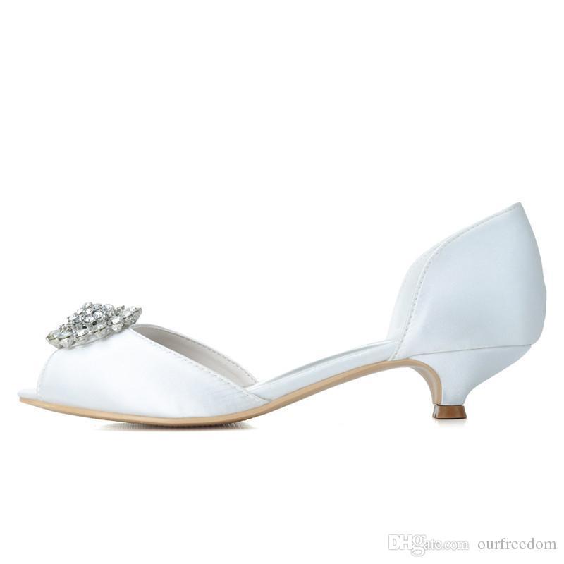 0700-03 2019 Calzado nupcial hecho a medida Abre Peep Toe Tamaño 3,5 cm Tacón bajo Partido de la noche PROMO ZAPA DE MUJERES 2019 Nuevo