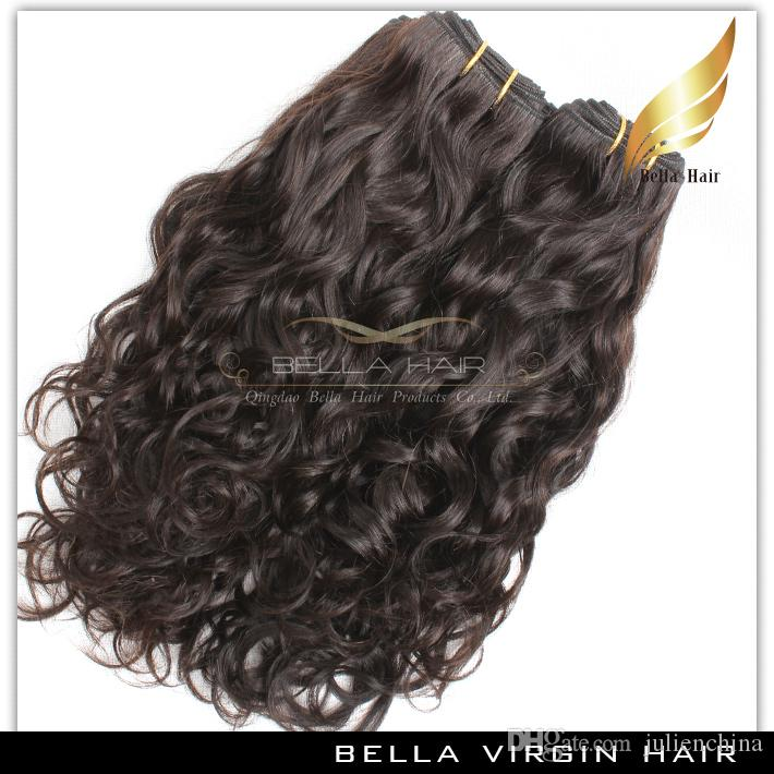 Bella Hair® Brazilian Hair Weave Virgin Natural Color Wave Wavy Extensions Double Weft 8~30inch