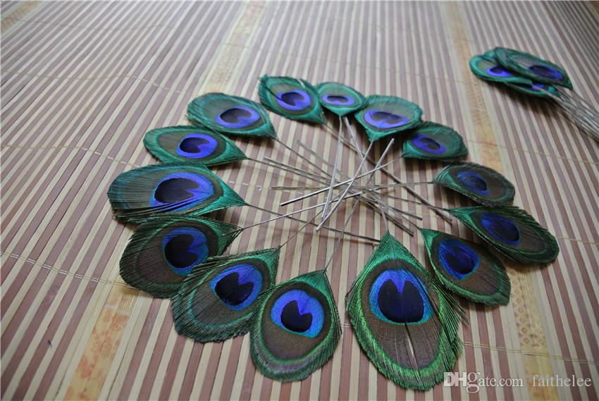 vente en gros - livraison gratuite / paon yeux coupés largeur de plume 3-5cm pour bijoux artisanat scrapbook hairpiece