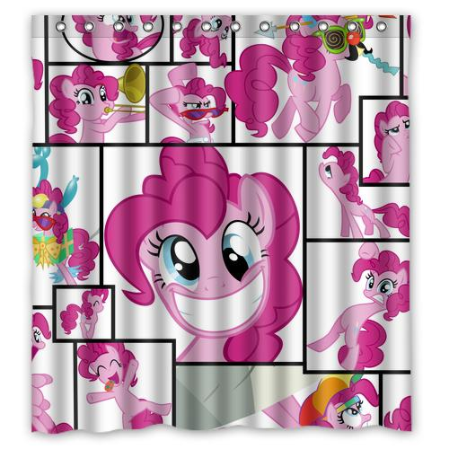 2018 Cute Lovely Pinkie Pie My Little Pony Design Waterproof Shower Curtain  Bathroom Curtains 36x72, 48x72, 60x72, 66x72 Inches From Littleman913, ...