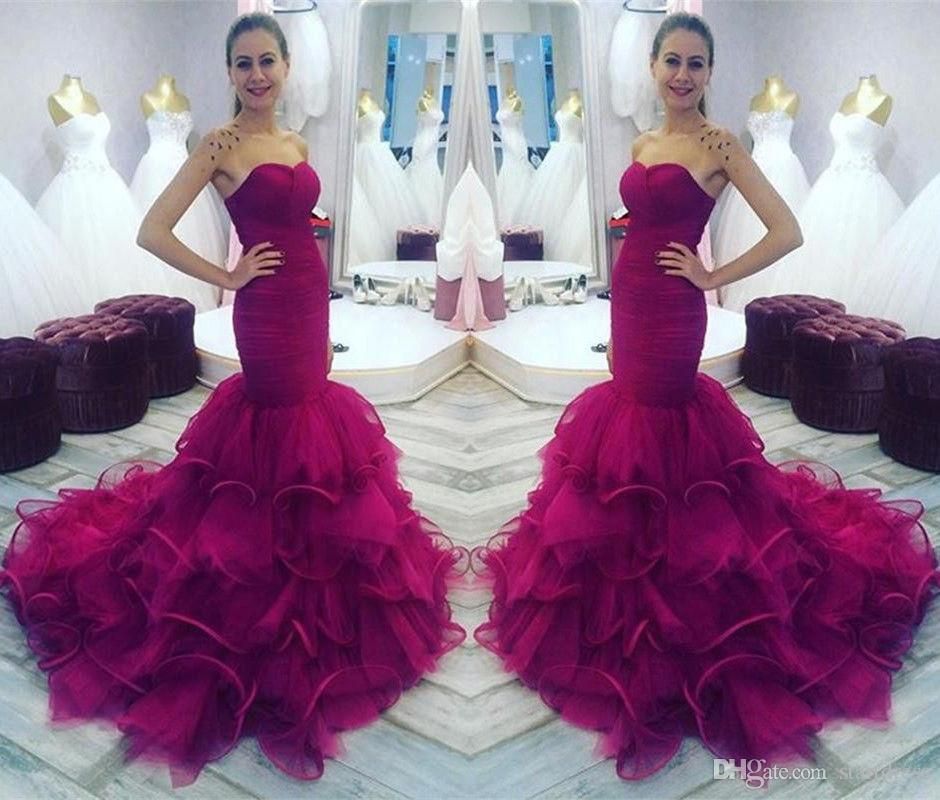 0d5dc7675 Elegant Mermaid Prom Dresses Boutique Sweetheart Organza Ruffles ...