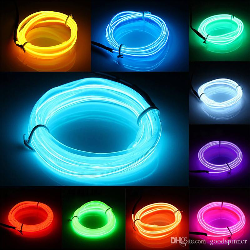 El Wire 3 Meters Rope Tube Cable Diy Led Strip String Lights ...