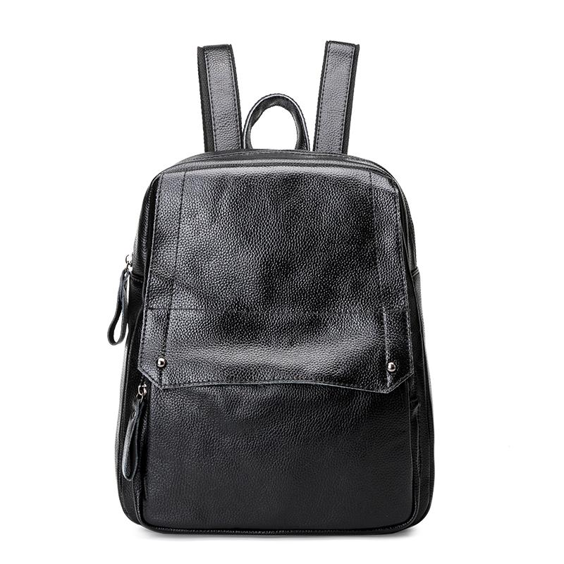 e0dc7caeb032 Designer Women S Backpacks Genuine Leather Female Backpack Woman Korean  Style Ladies Strap Laptop Bag Daily Backpack Girl School Cheap Backpacks  Rolling ...