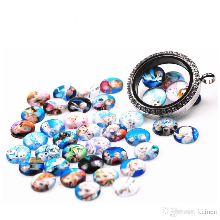 Ice Series New Paint Glass Floating Charms Floating Locket Charms Mixed Styles Fit Floating Lockets&Floating Locket Bracelet FC123