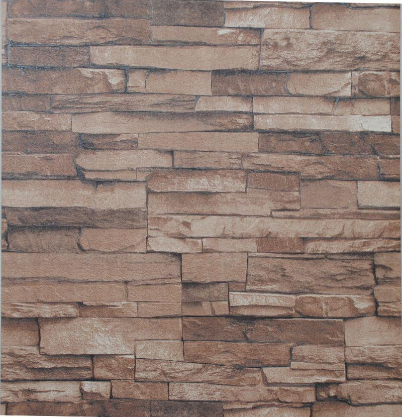 Nature Textured Embossed Stone Brick Wallpaper 3d Effect