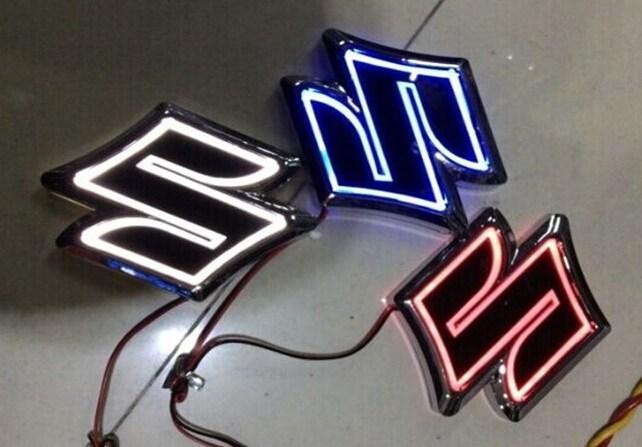 Suzuki Logo Light D Car Badge Led Auto Sticker Rear Logo Emblem - Best car sticker logo