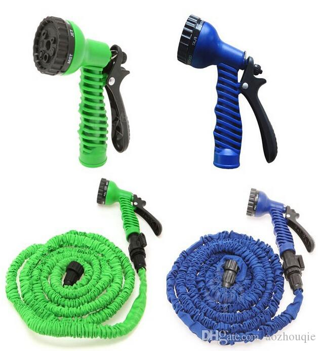 Wholesale Silicone hose 100 FT garden water hose Foot Expandable Retractable Flexible 100 FT Garden Water Watering hose watering For Car