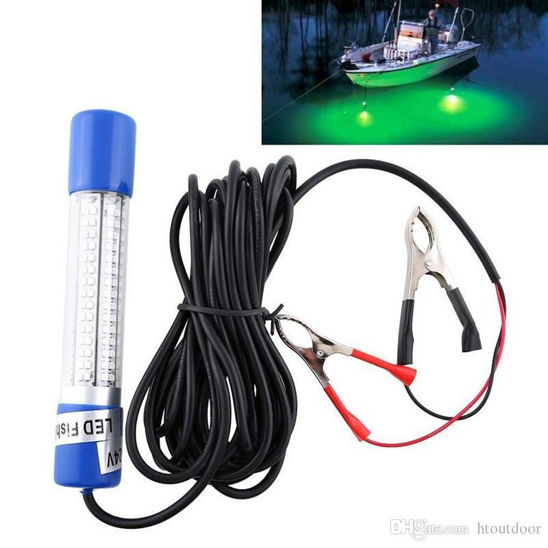 5 Farbe 12 V-24 V 8 Watt 180 LEDs Fischköder Nachtlicht Unterwasser Boot Tauch Köder Birne Fisch Tintenfisch Lampe mit Batterie Clip5m Kabel