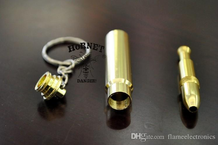 Super Bullet Pipe MINI Funky Bullet Metal Pipe Tobacco Smoking Pipe Key Chain Gold Pipe Gold Bullet Keychain Secret Smoking Pipe
