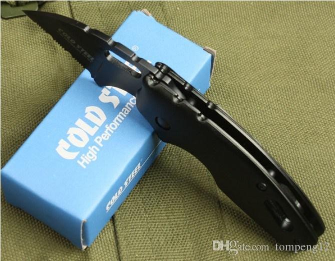 Aço frio 710mts dobrável faca de bolso 440C lâmina alumínio alumínio Sobrevivência D2