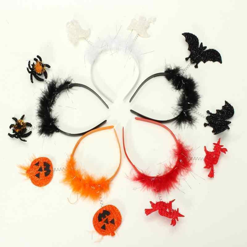 10PCS/LOT Lovely Halloween Headwear Bat Ghost Pumpkin Headband Kids Favor Decor Gifts Bar KTV Party Supplies