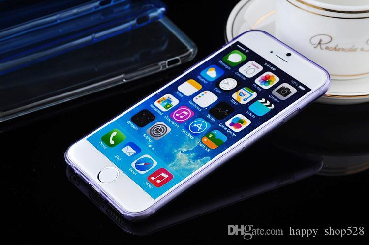 DHL shipping Cell Phone Cases For iPhone 5 5S Plus 6 and Samsung Galaxy S5 S6 E6 Ultra Thin Crystal Transparent Soft TPU Silicone Cover