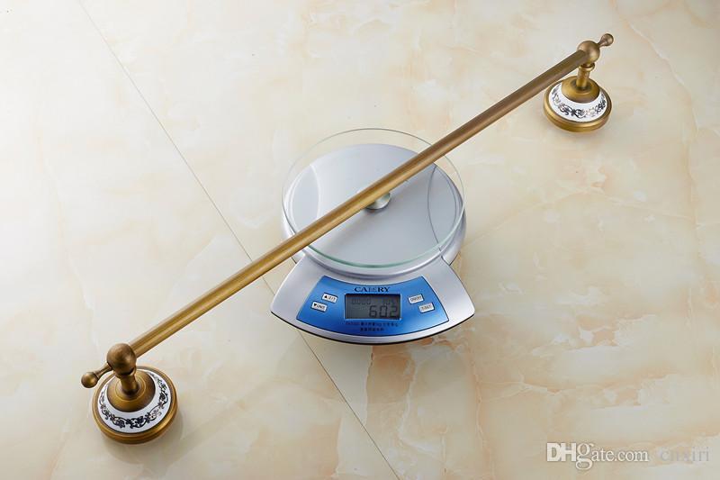 Античная фарфора Полотенца стойки медные аксессуары для ванной комнаты одного способа античных ванных полотенец бара / вешалка для полотенец / держатель для полотенец A-FN837