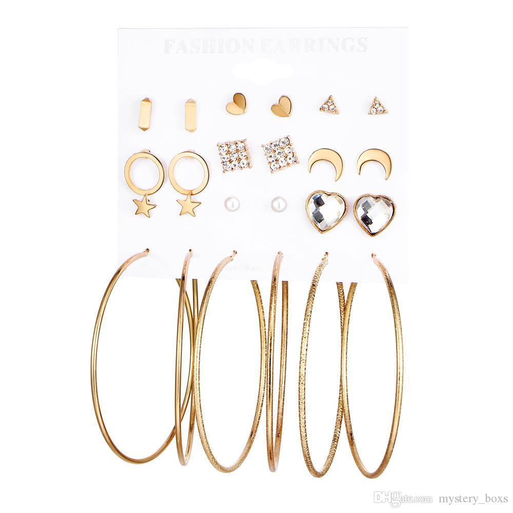 de6f8c003 Suit Earrings Factory Direct Wholesale Stars Moon Lovers Big Circle ...