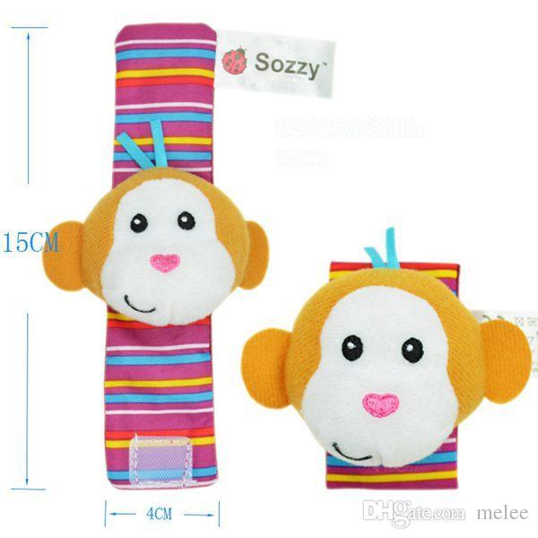 2015 جديد وصول sozzy المعصم راتل القدم مكتشف الطفل لعبة الرضع جورب القدم 20 قطع 10 خشخيشات المعصم + 10 قدم الجوارب جميل طفل هدية الطفل
