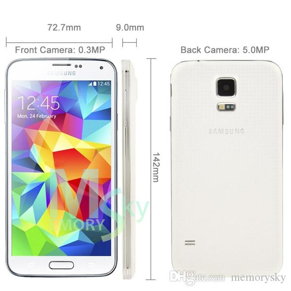 "Unlocked Samsung Galaxy S5 i9600 4G LTE 2GB RAM 16GB ROM G900F G900A G900T 16MP Camera Quad Core 5.1"" Inch Refurbished Phone"