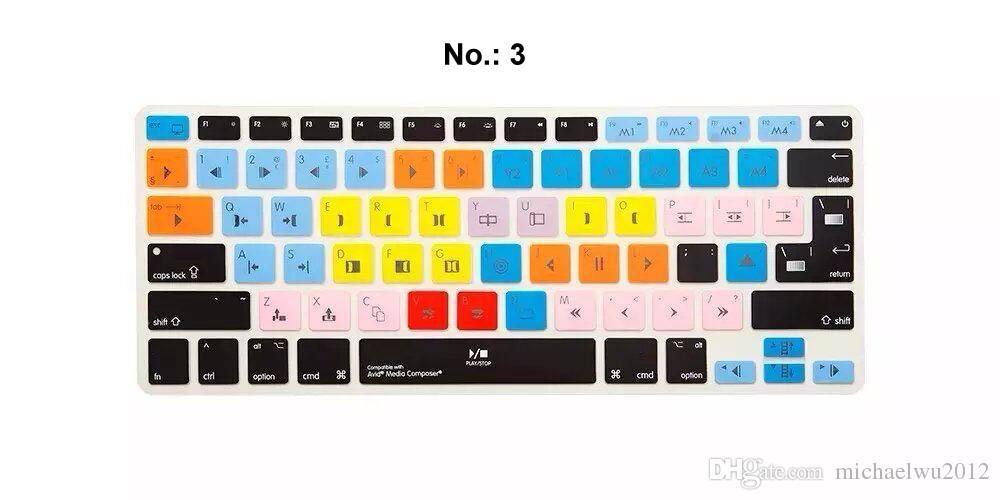 Neue multi beautyful farbe bunte silikon us europa universal tastatur haut abdeckung für apple für macbook pro 13 15 17 laptop