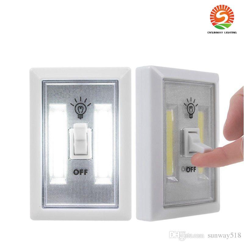 2019 Magnetic Mini Cob Led Cordless Light Switch Wall Night Lights