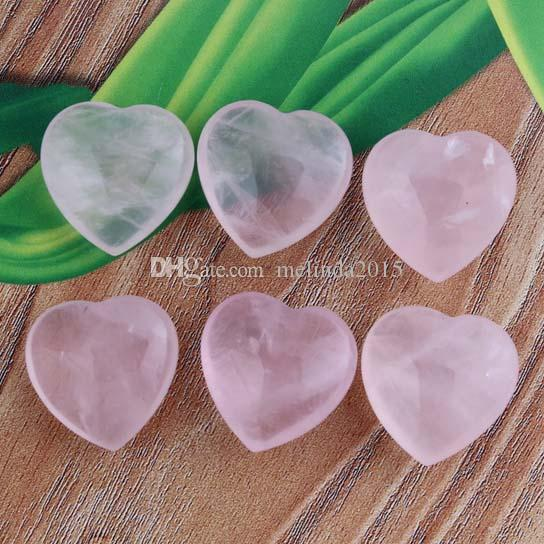 18x18mm Fashion Rose Quartz Heart-shape Beads Cabochon Bead Jewelry Findings Accessories Diy Jewelry Making Reiki Amulet