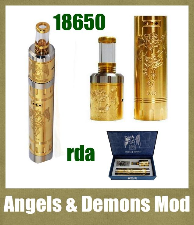 Angels & Demons mod mechanical 18650 battery mod brass mod with rda atomizer 510 thread VS 30W box mod hanna mod TZ278