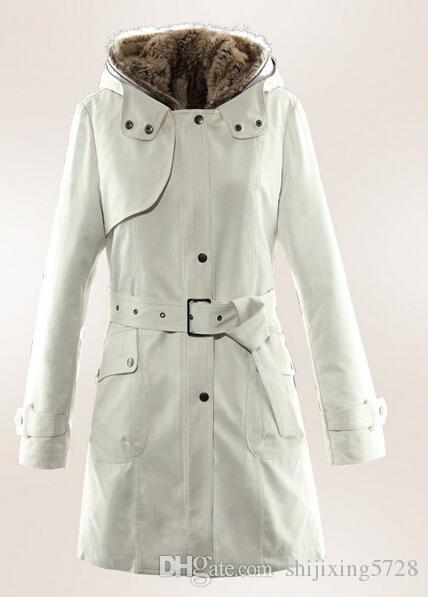 Best New 2015 Faux Fur Lining Women'S Fur Hoodies Ladies Coats ...