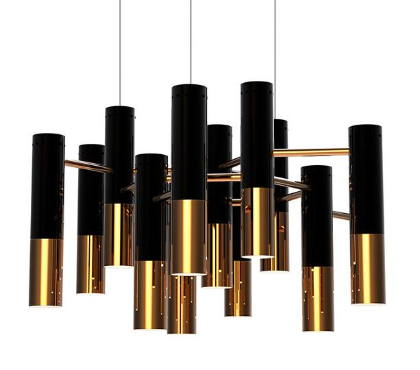 Delightfull Ike Chandelier Modern Design Pendant Lamp Suspension Light  Dinning Room Living Room Lighting Restaurant Black And Gold Color  Delightfull Ike ...