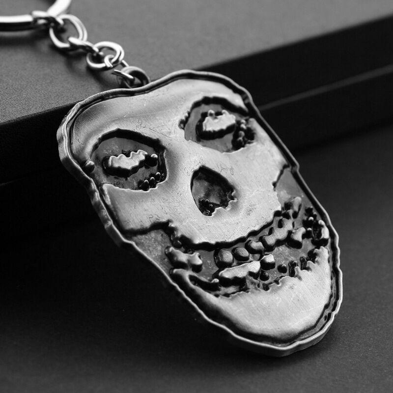 Trendy Jewelry Silver Plated Alloy men Suicide Squad clown KeyChain grimace mask KeyChain Skeleton skull Key Chain Ring Pendant 2018 y039