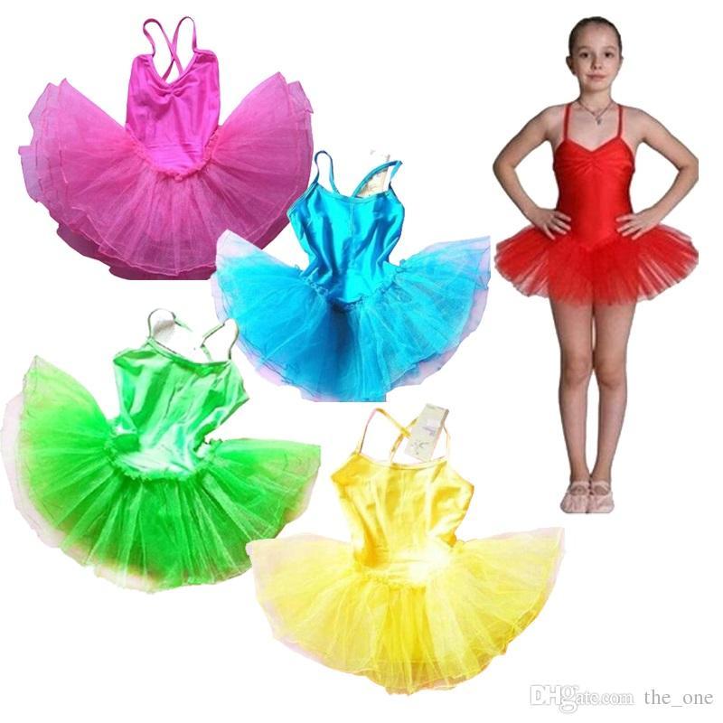 3e831d470 2019 Kids Ballet Dresses Pageant Tutus Spaghetti Strap Girls Dance ...