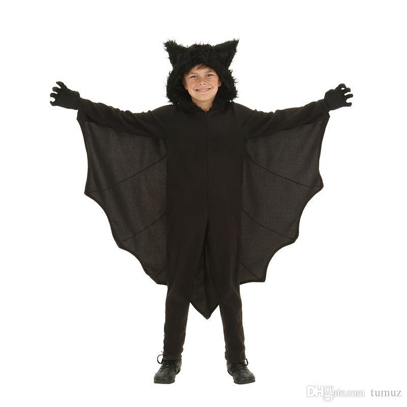Dia das bruxas, macacão de meninos, traje de morcego, roupas de desempenho infantil neutro