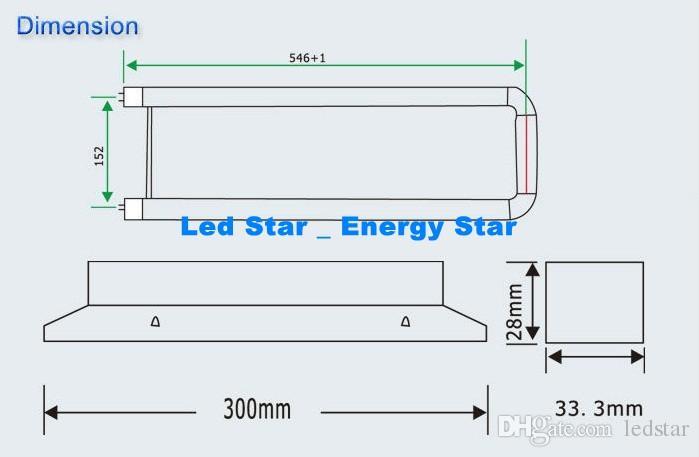 U-förmige T8 LED-Leuchtröhre 22W 2ft U-Formröhre Lampe SMD 2835 Hohe helle G13 LED-Leuchtstofflampen AC85-265V