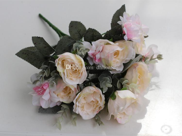 europeansim style artificial Rose Flowers Home decorations for Wedding Party Birthday decoration flower 13 flowers piece