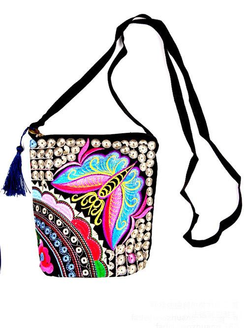 Women Bag 2015 New Vintage Boho Hobo Hmong Ethnic Embroidery ...