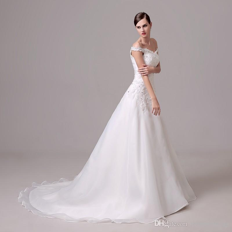 Discount Fast Shipping White Ivory Weddding Dresses In