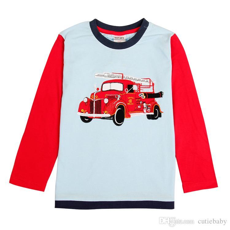 Großhandel Jungen Neue Langärmelige Baumwolle T Shirts Jungen Mode ...