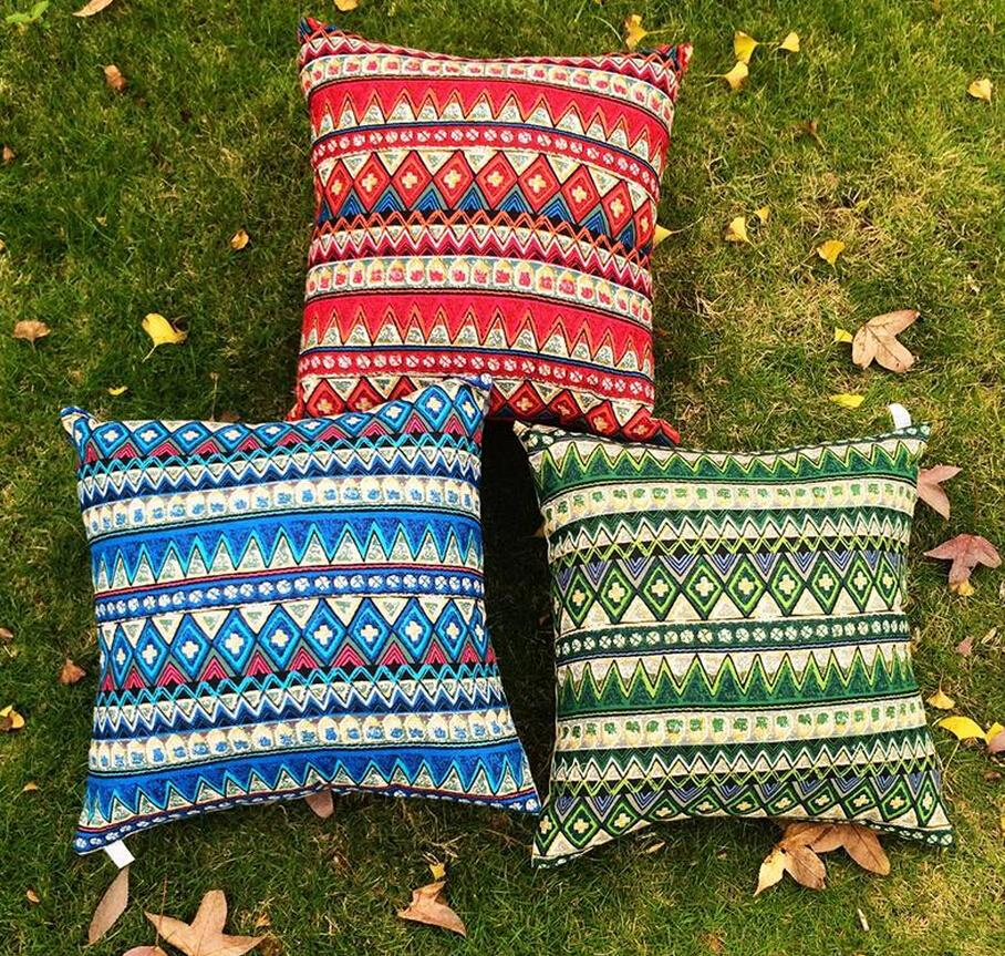 New Pillow Cases Bohemian Pillow Covers 4545cm European Vintage