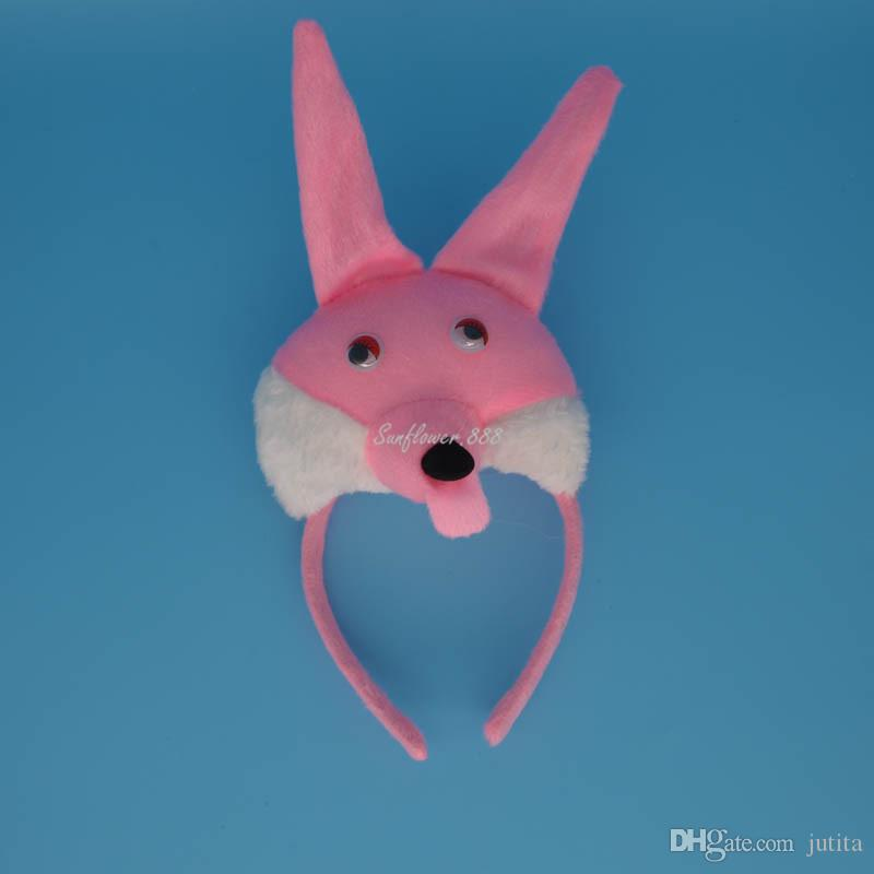 Fun 3D White Rabbit Bunny Party Animal Headband Ears Set Bow Tail Fancy Dress Birthday Halloween Carnival Supplies Decor