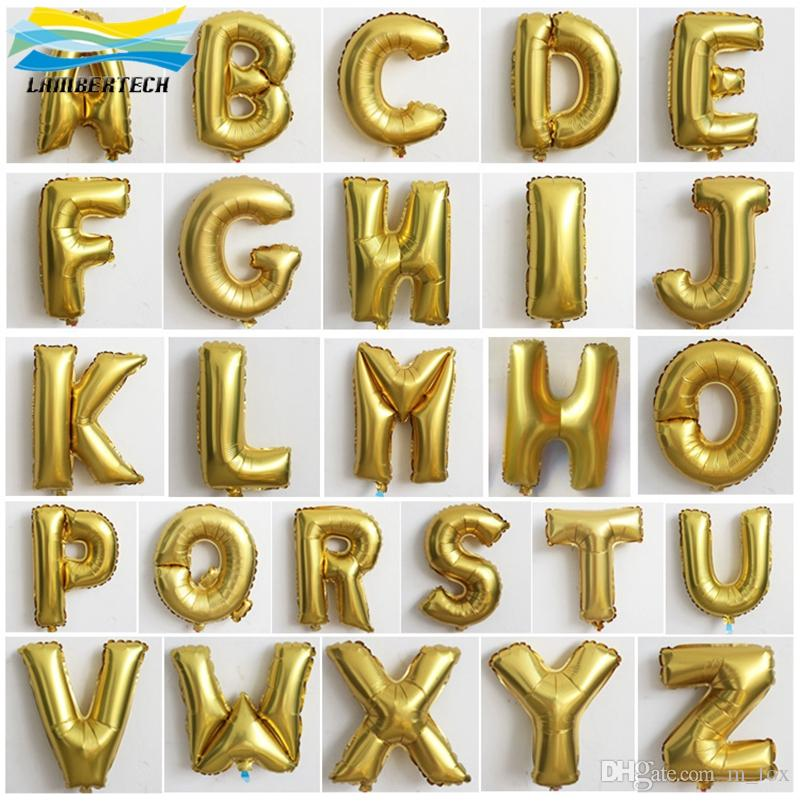 Balloons For Wedding Silver Gold Alphabet Letters Helium Balloons