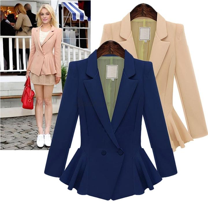 2018 Plus Size Women Blazers And Jackets Single Button