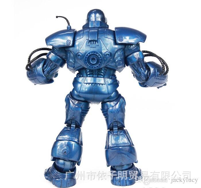 8 pulgadas Blue Iron Man Hero Marvel figuras de acción PVC Doll Toys Model Boy regalos de cumpleaños recién llegado de envío gratis