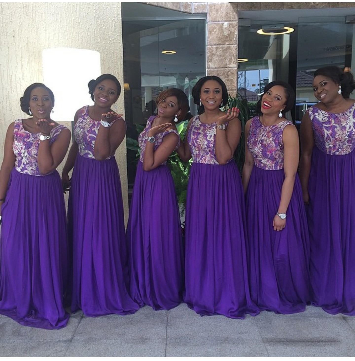 Custom Made Bridesmaid Dresses With Cap Sleeves Pearls Fitted On The ...