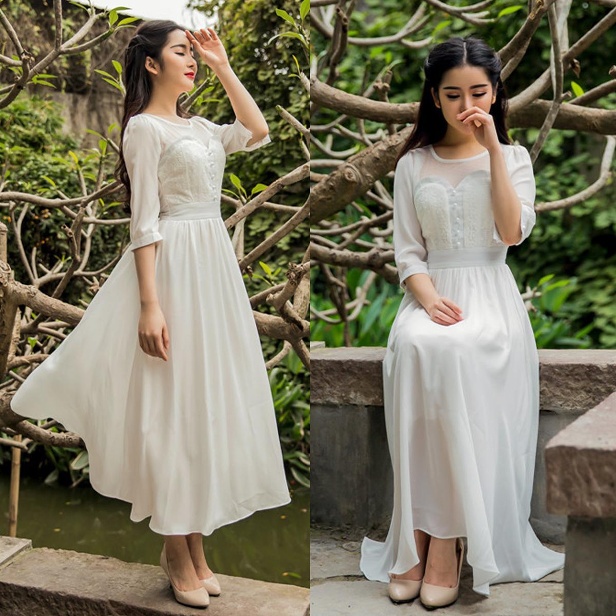 3b156ecde2e8 zipper knee length a line natural jewel wedding dresses hydf1001 ...