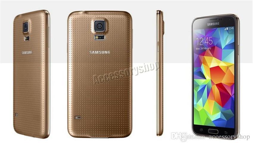 Recuperado Origianl Samsung Galaxy S5 G900F G900A G900V G900T G900P 5,1 polegadas Quad Core 2 GB de RAM 16GB ROM 4G LTE Desbloqueado DHL