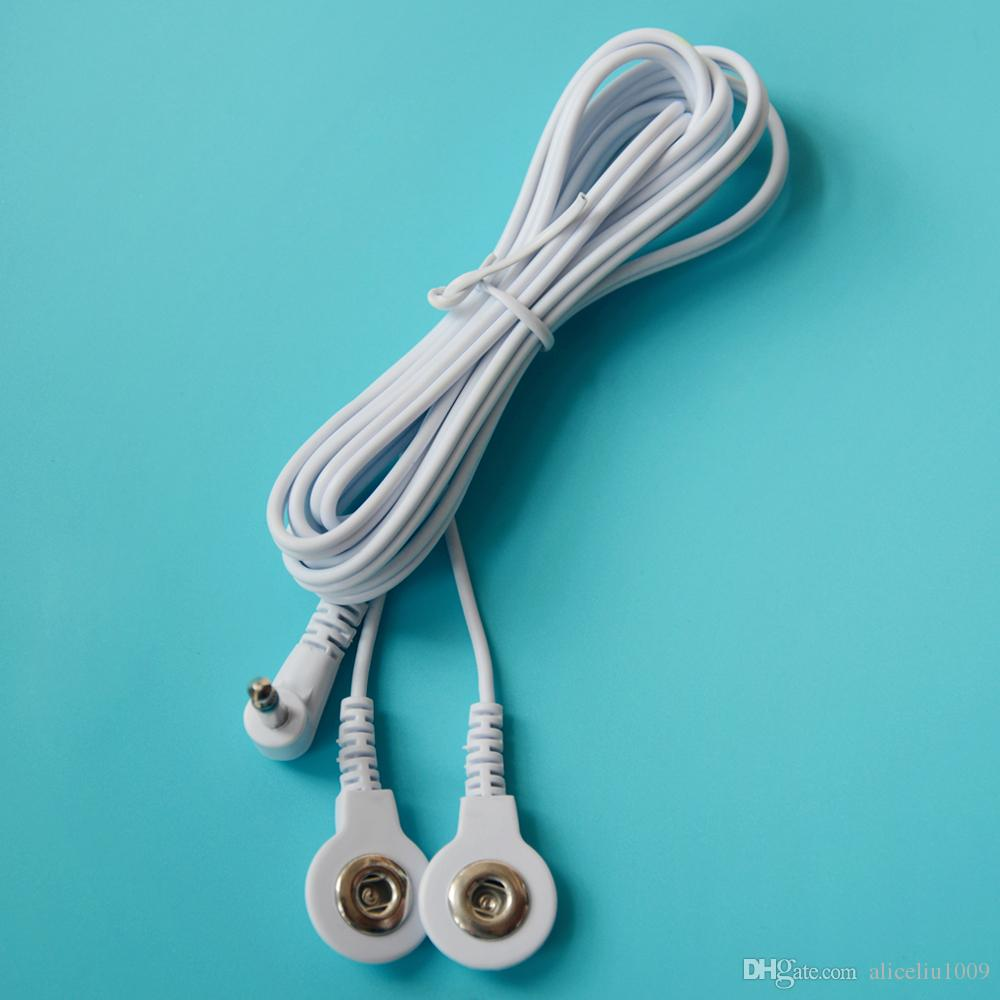 Jack DC Head 3.5mm Replacement Electrode Lead Wires Connector Cables Snap 3.5mm Connect Physiotherapy TENS Unit