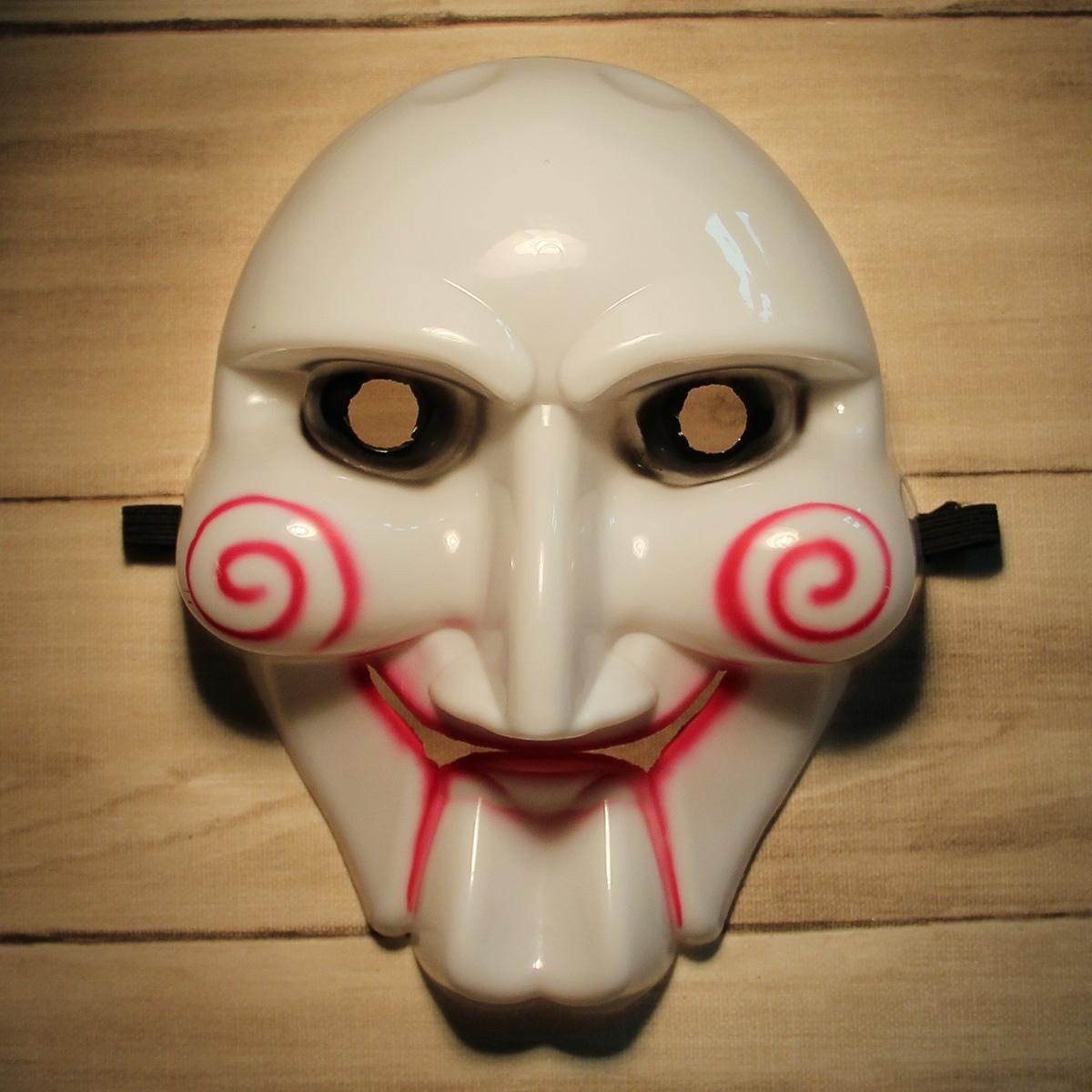Scary Saw Billy Pvc Mask For Halloween Masquerade Parties White + ...