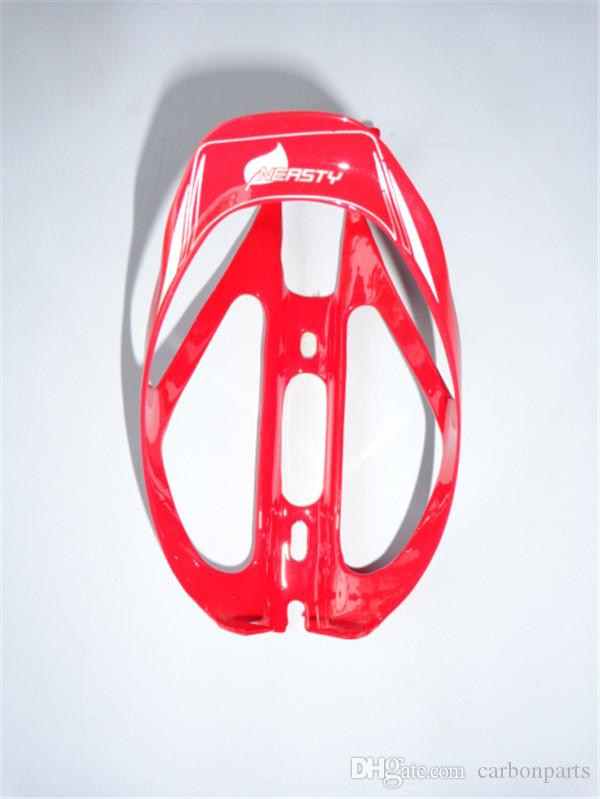 BC2007 red color painted with NERSTY brand carbon fibre bicycle water bottle cage high quality guangzhou factory supply holder
