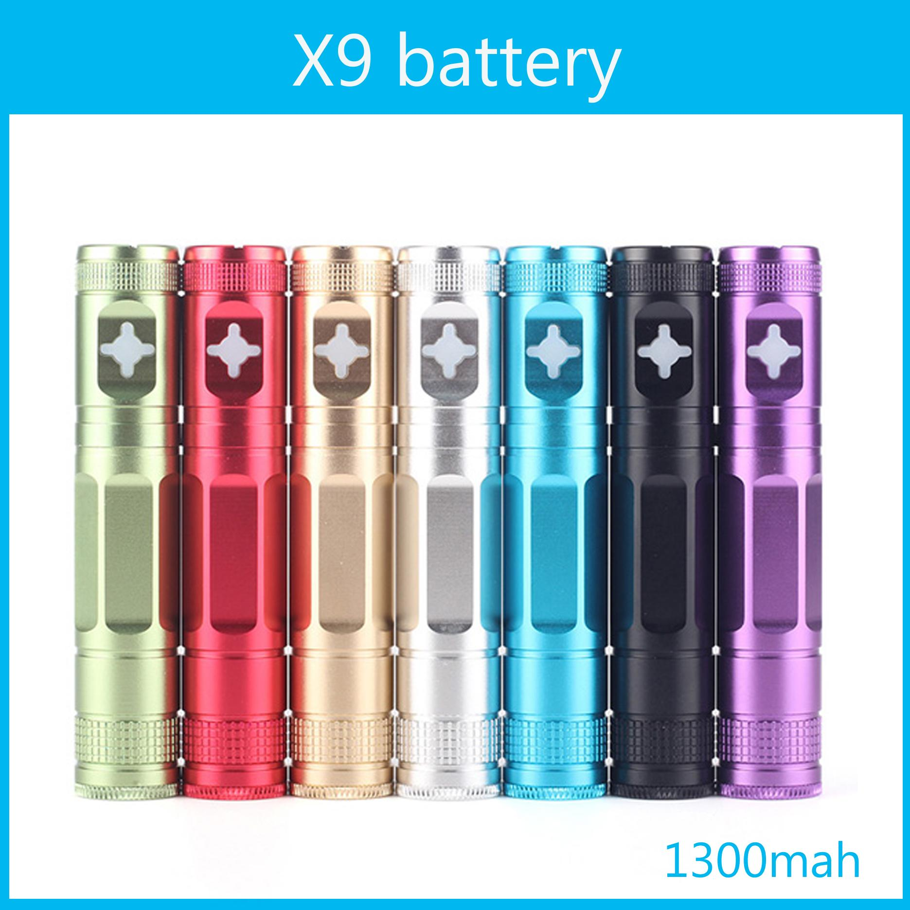 Colorful 1300mah X9 batterie eGo E-Cigarette tension variable 3.2V-4.2V X6 amélioré Batterie Fit 510 fil atomiseur